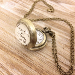 Esther 4:14 Pocket Watch Necklace