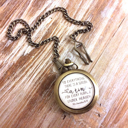 Men's Ecclesiastes 3:1 Pocket Watch
