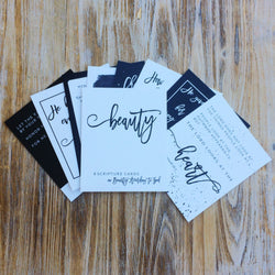 'Beauty According to God' Scripture Cards