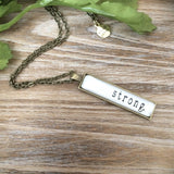 """I AM..."" Bar Necklace for Girls"
