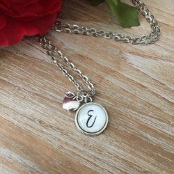 Teacher Initial Necklace (14mm)