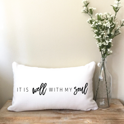 It Is Well With My Soul Lumbar Pillow
