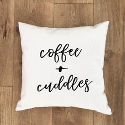Coffee + Cuddles Pillow