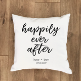 Custom Happily Ever After Pillow