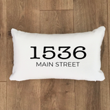 Custom Address Lumbar Pillow