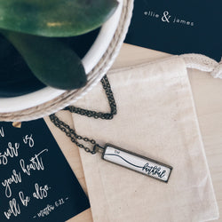 Be Faithful - Bar Necklace