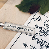 Grace Upon Grace - Bar Necklace