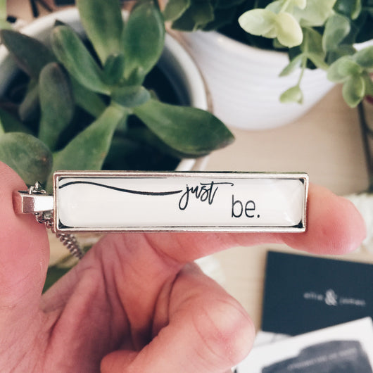 Just Be - Bar Necklace