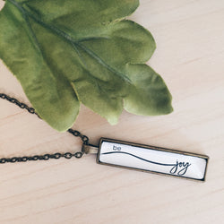 Be Joy - Bar Necklace