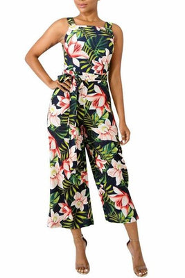 MB fashion Floral JUMPSUITS Black 5819