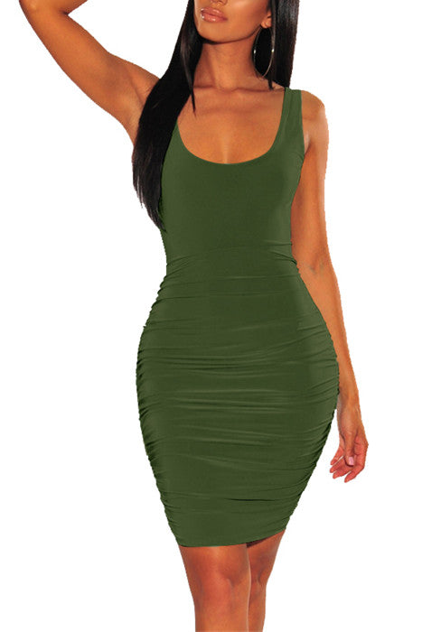 MB Fashion GREEN Skinny DRESS 1601