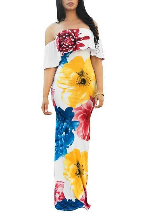 MB fashion Floral Long Dress 4319 Color 6