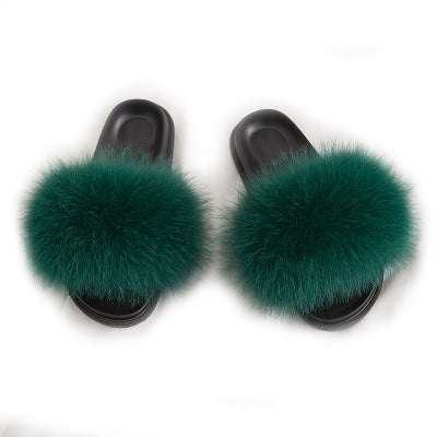 MB Fashion D-GREEN 96 Fur Sandals Slides