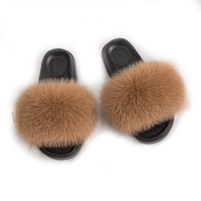 MB Fashion BROWN 95 Fur Sandals