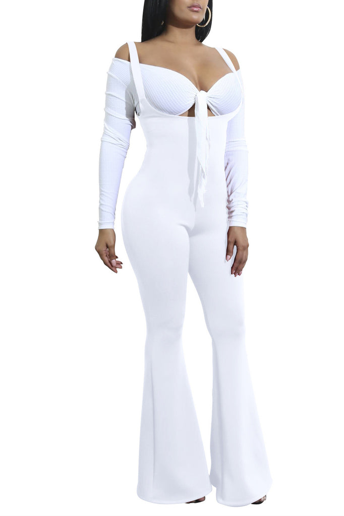 MB Fashion WHITE Jumpsuit 3578