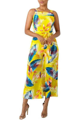 MB fashion Floral JUMPSUITS Yellow 5819