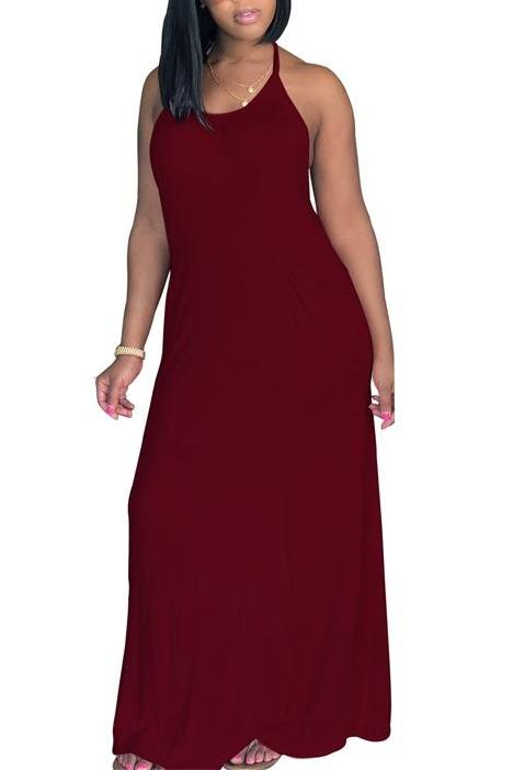 MB fashion Burgundy DRESS 5853