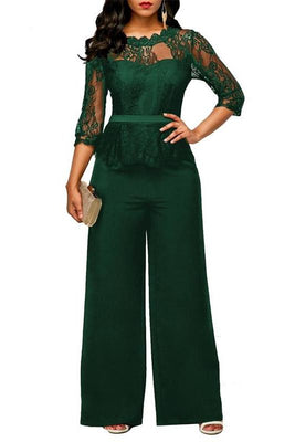 MB fashion Jumpsuit Green mb 3597