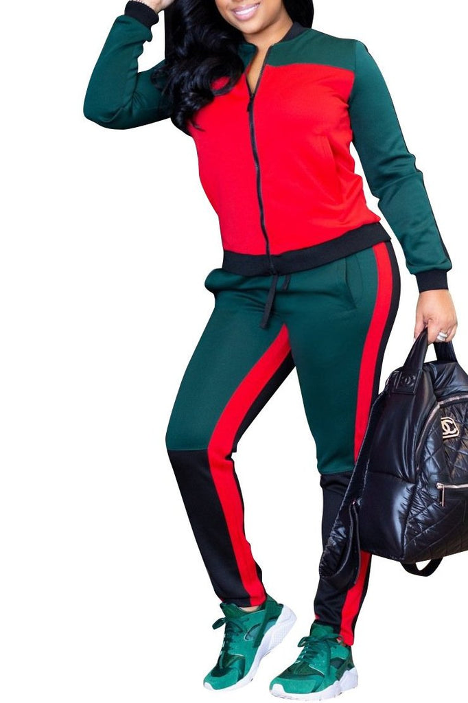 MB Fashion Multi Red Jogging Suits 7757