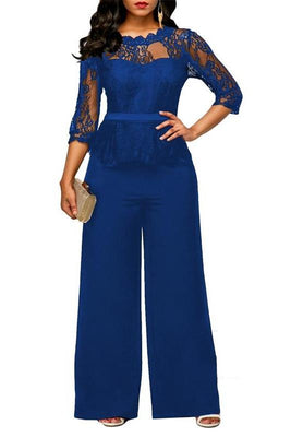 MB fashion Jumpsuit Blue mb 3597