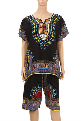 MB Fashion Black Dashiki Africa Print Sets p3021