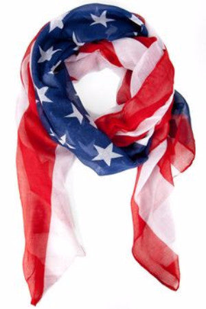 Women's American Flag Convertible Scarf / 12 PCS / Pack