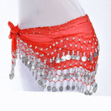 MB Fashion belly scarf 128 Silver Coin Sash
