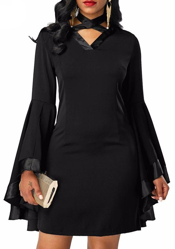 MB fashion Black Dress mb 3146