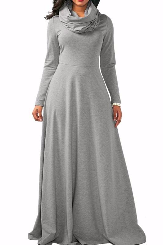 MB fashion Gray Dress Outfit mb 3294