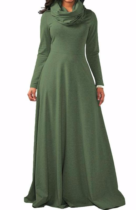 MB fashion Green Dress Outfit mb 3294