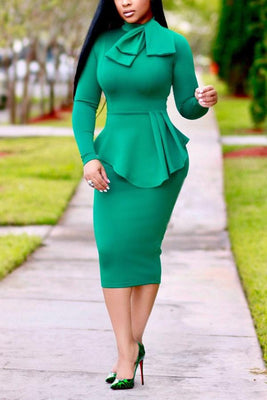 MB Fashion Green Dress mb 3190