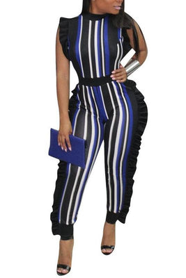 MB fashion BlackBlue jumpsuit 4350