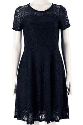 MB Fashion Black Plus Size Lace Dress 6801