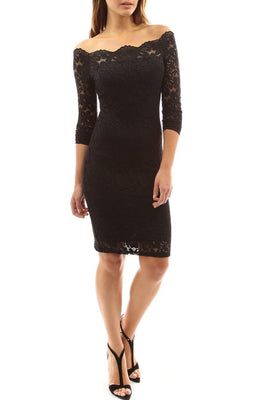 MB Fashion Black Plus Size Lace Dress 9051