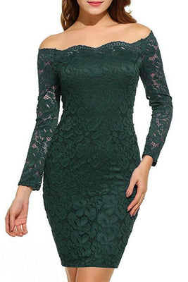 MB Fashion Green Plus Size Lace Dress 9051