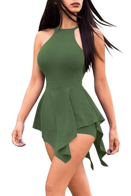 MB fashion Short Jumpsuit Green mb 5038