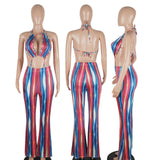 MB fashion Jumpsuit Multi Red mb 070