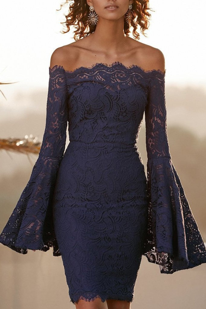 MB Fashion Lace Dress Blue 1015