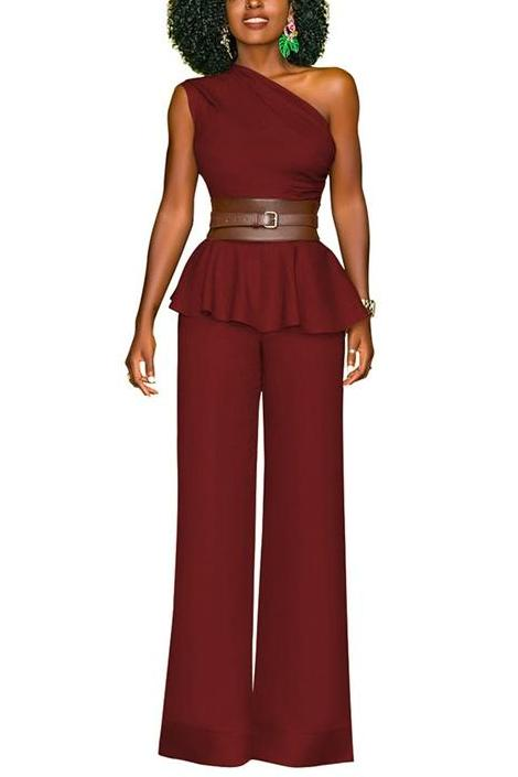 MB fashion 2 PCs Set Burgundy 5957