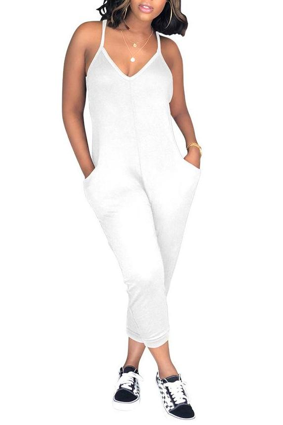 MB fashion Jumpsuit White 5734