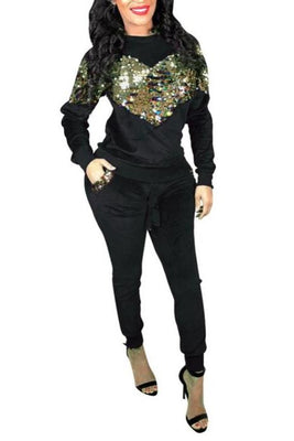 MB Fashion Black 2PCs Sets 7468 m