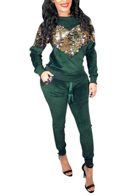 MB Fashion Green 2 PCs Sets 7468 m