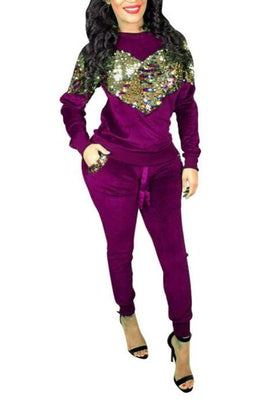 MB Fashion Purple 2 PCs Sets 7468 m