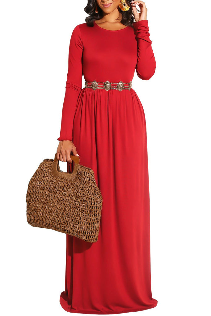 MB Fashion Red Long Dress 1888