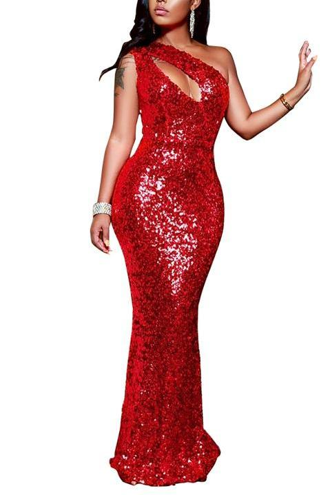 MB Fashion NEW YEAR Red Bling Long Dress 8272