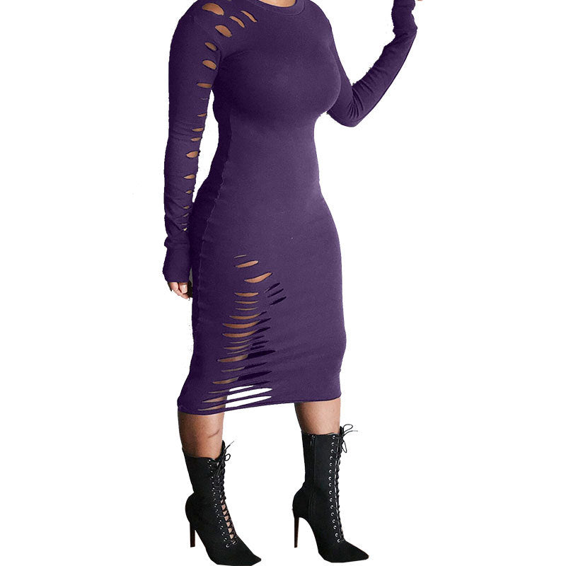MB Fashion Purple Dress 9403