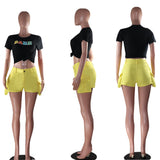MB Fashion YELLOW Shorts 1763
