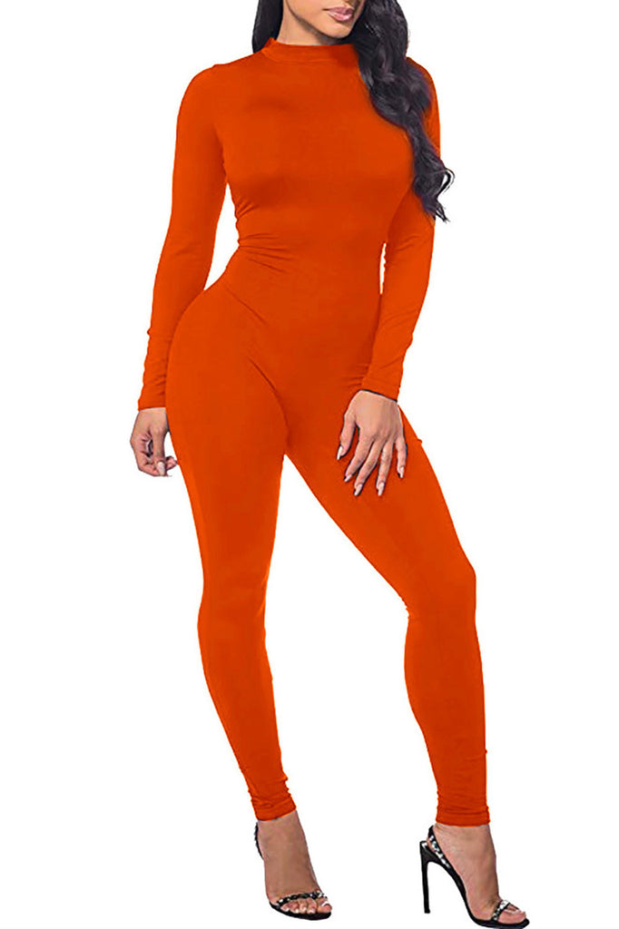 MB Fashion ORANGE Solid Jumpsuit 5694
