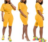 MB Fashion Solid YELLOW 2 PCs Set 1006