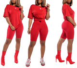 MB Fashion Solid RED 2 PCs Set 1006